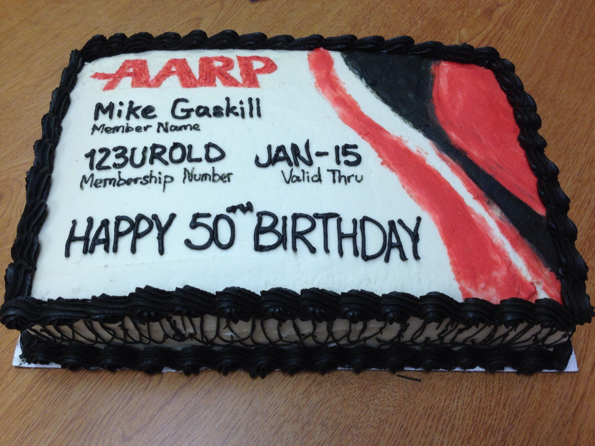 Cool Aarp Cake With Images Funny 50Th Birthday Cakes Funny Funny Birthday Cards Online Necthendildamsfinfo