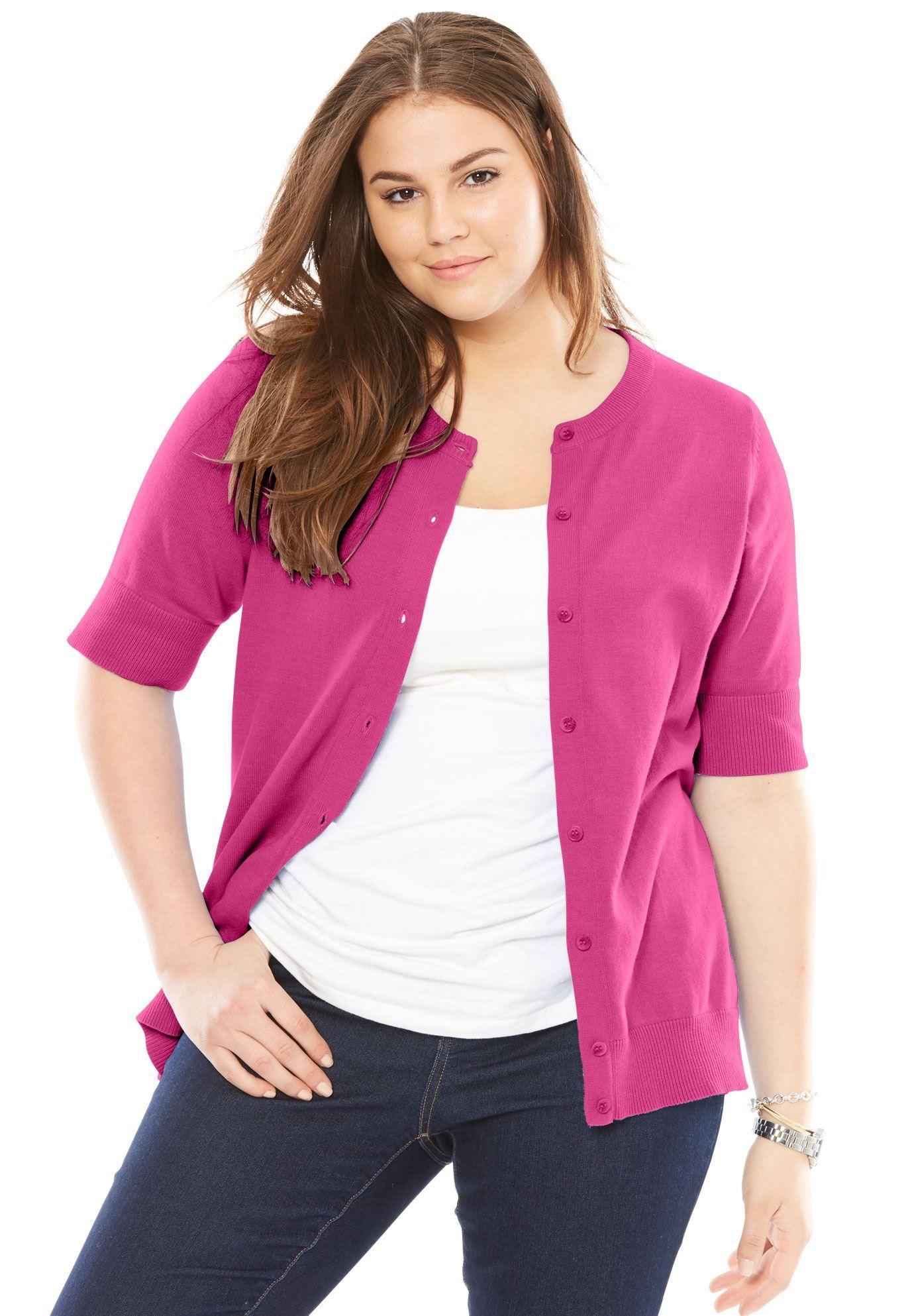 73135793eca Perfect Elbow-Length Sleeve Cardigan - Women s Plus Size Clothing ...