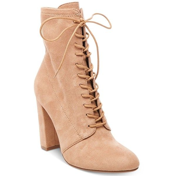 a97f8364a34 Steve Madden Women's Elley Lace-Up Block-Heel Booties ($99) ❤ liked ...