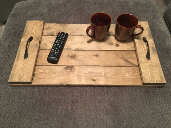 Rustic Serving Tray Pallet Design Ottoman Tray With Antique Bronze Handles Rustic Serving Trays Pallet Designs Ottoman Tray