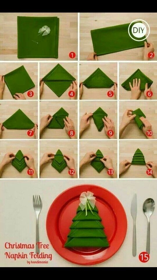 How to fold a fitted sheet diy christmas decorating and napkins decorate your napkins for your xmas lunch solutioingenieria Image collections