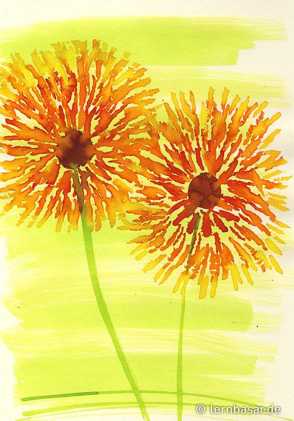 Blumenmeer Grundschule Art Projects Flower Art Und Art