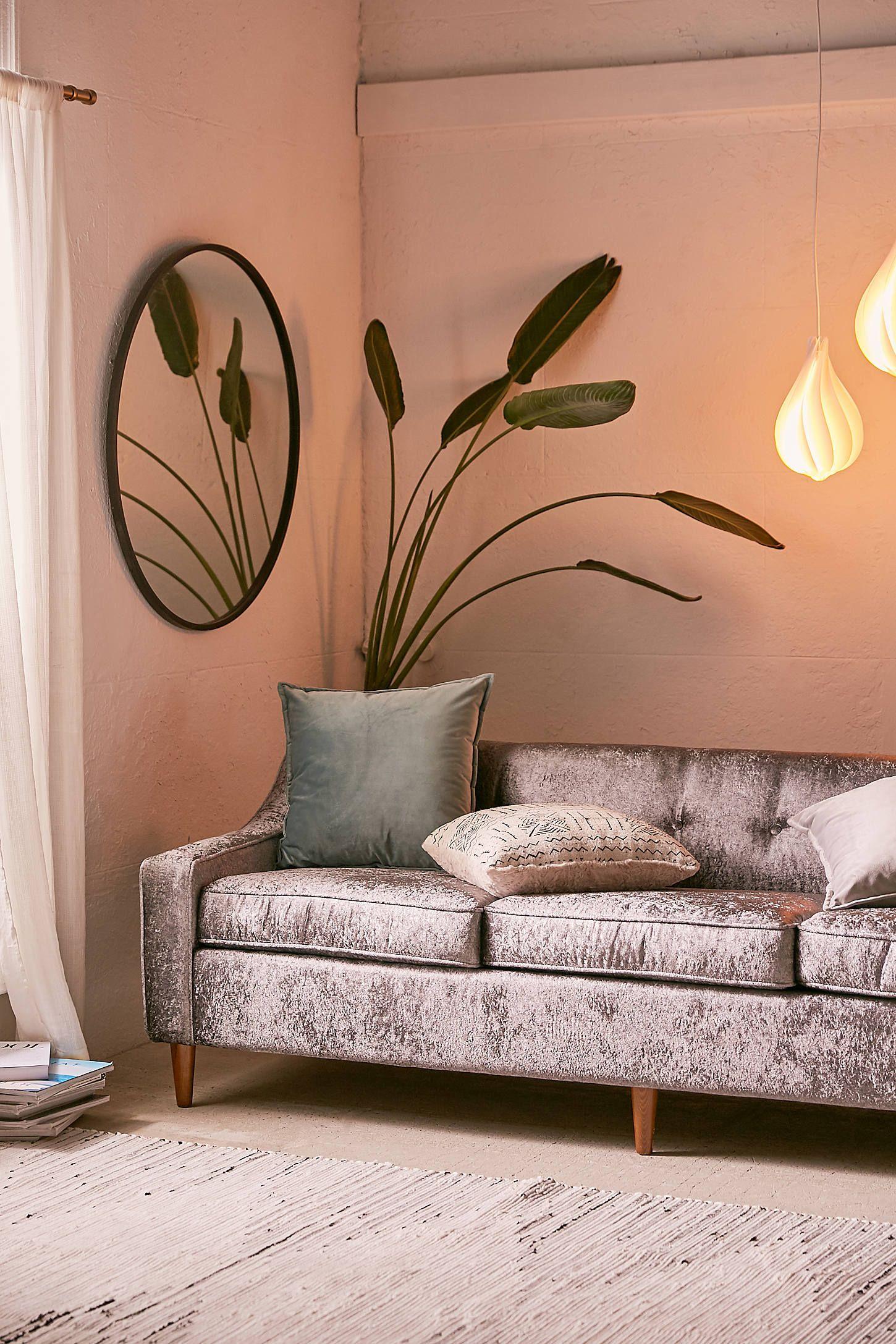 Milly Crushed Velvet Sofa | Apartment decor, Crushed ...