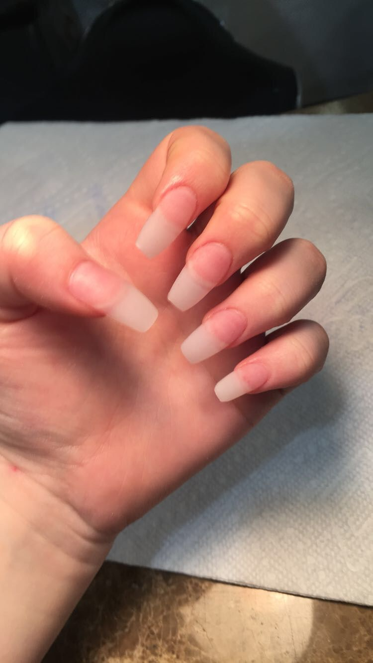 Unpainted acrylic nails in 2019