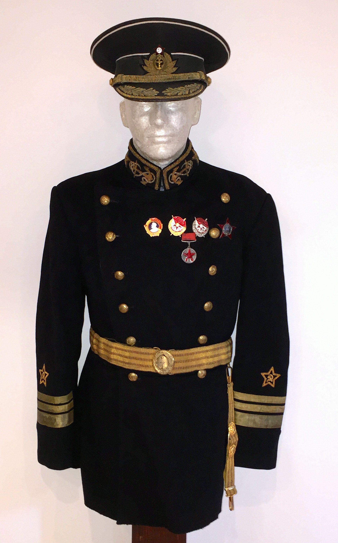 Marine corps Soviet Russian Naval Infantry Black Beret military uniform #4