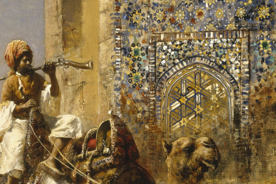 Details from: Edwin Lord Weeks, Old Blue Tiled Mosque Outside Of Delhi India (c. 1885)