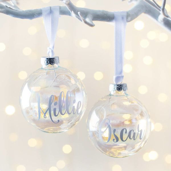 personalised iridescent christmas bauble christmas gift ideas personalized christmas gifts christmas tree decorations personalized christmas - Iridescent Christmas Tree Decorations