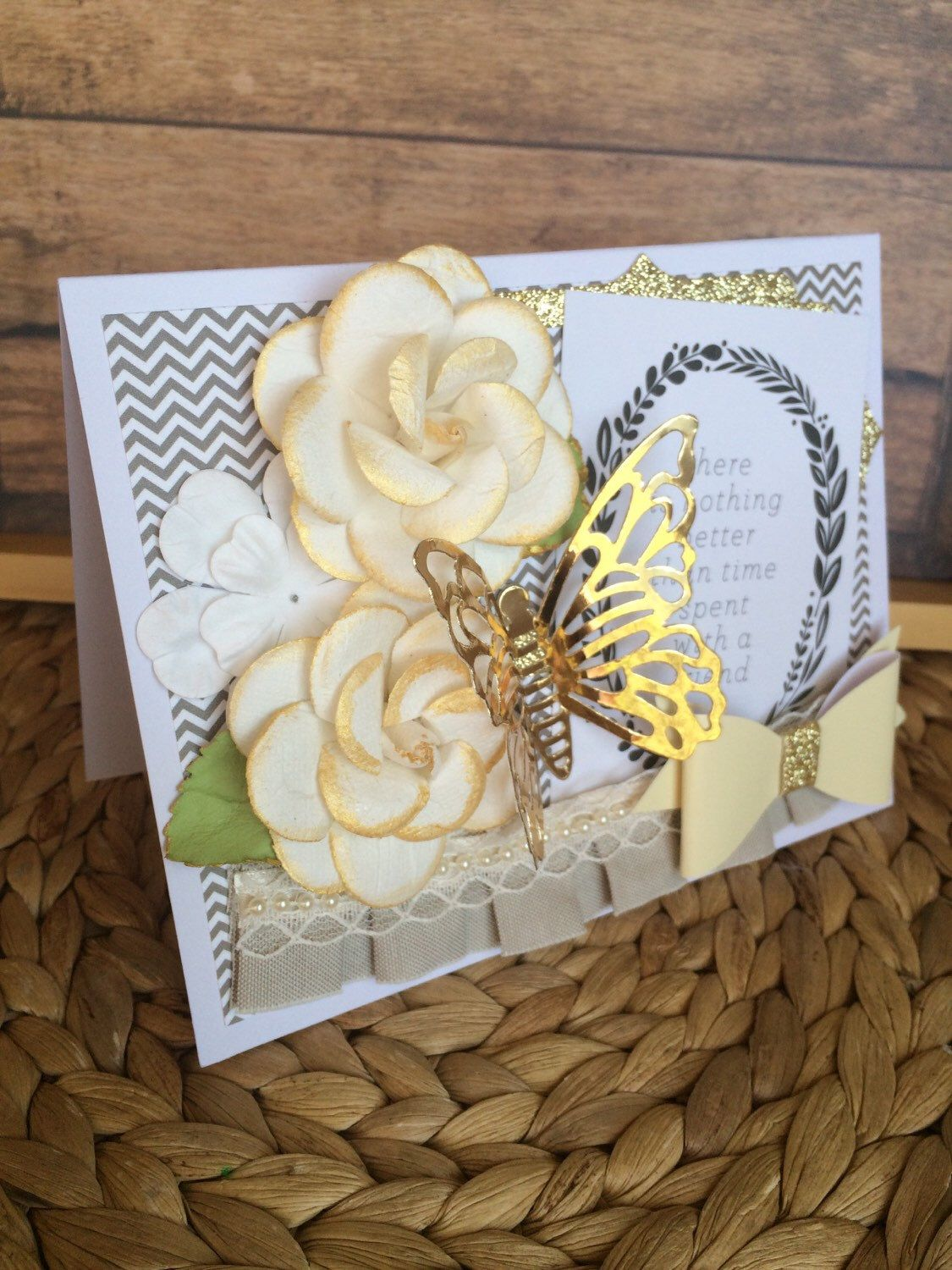 Friend Card Handmadehandcrafted Greeting Card Luxury Greeting
