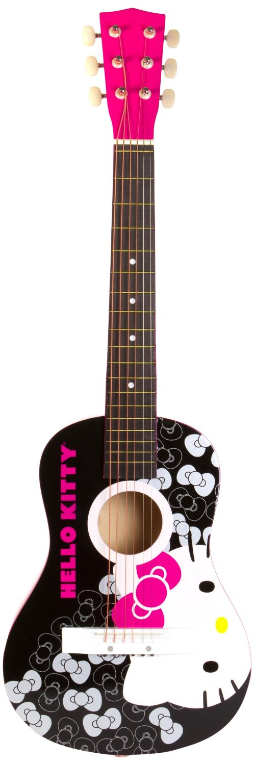 Hello Kitty 30 Acoustic Guitar Pink 88099 Easy Playing Beginners Comfort Hello Kitty Guitar Acoustic Guitar Guitar
