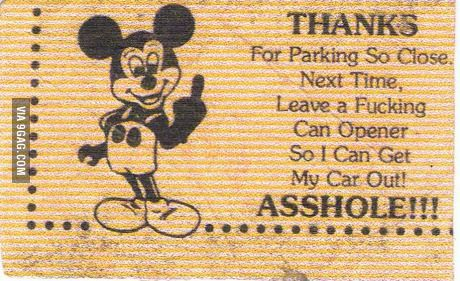 My sister sucks at parking. Today she found this on her windshield. Find Funny stuff to Pin here: http://associate.graymafia.com/?p=72360