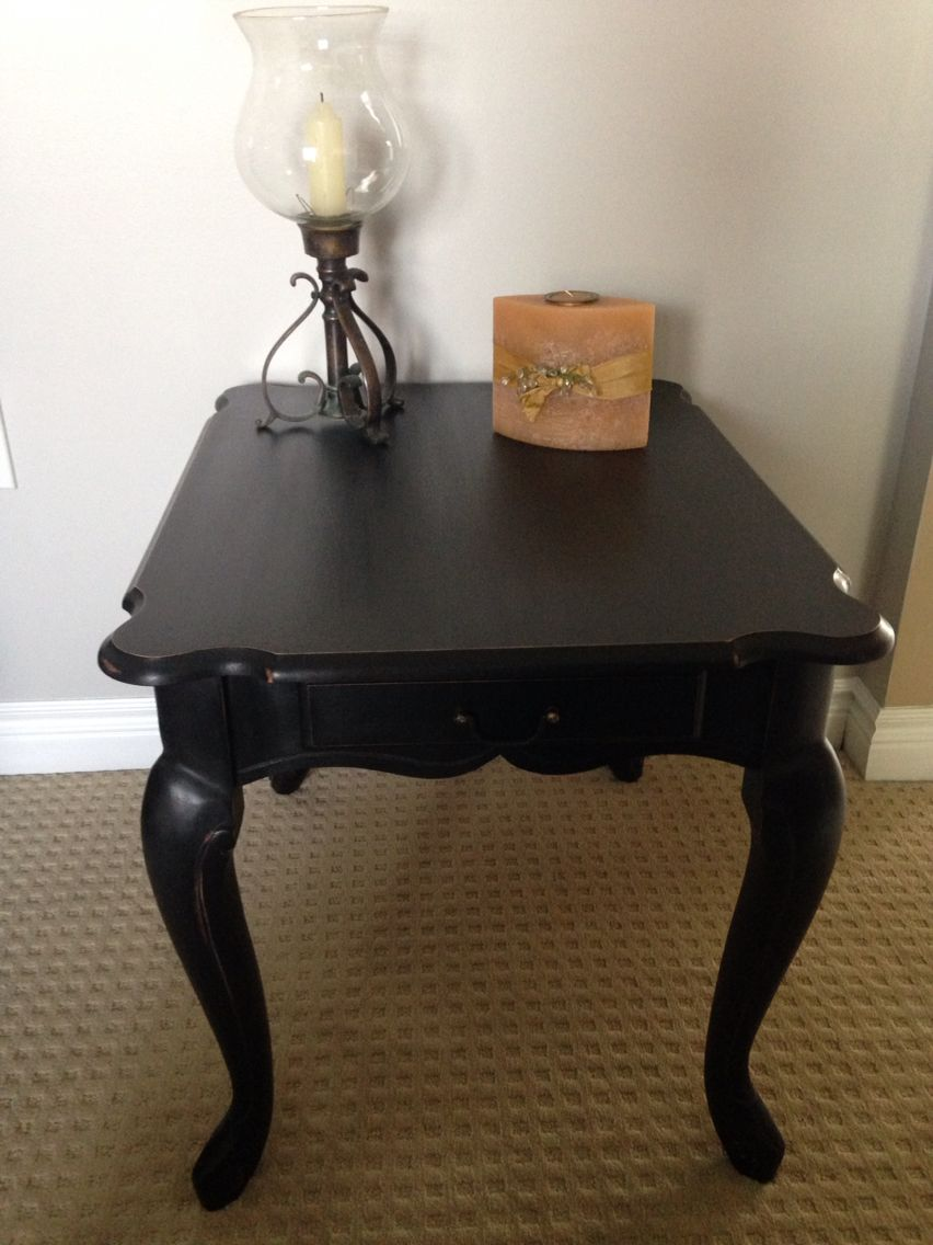 Queen anne style end table with drawer purchased with - Queen anne style living room furniture ...