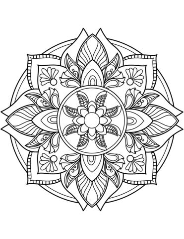 Blumen Mandala Ausmalbild Mandala Zum Ausdrucken Ausmalbilder Mandala Mandala Bilder Malen