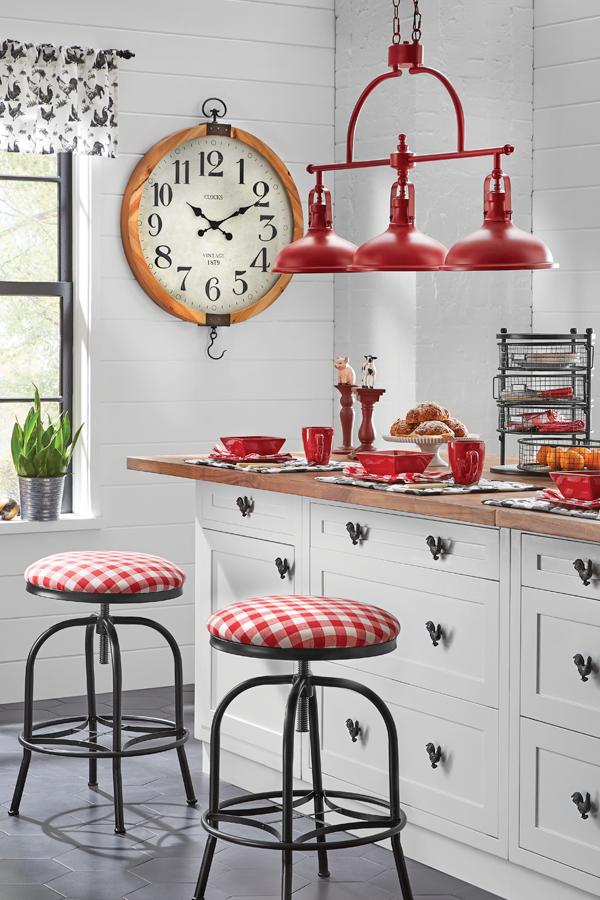 The Farmhouse Kitchen In Red White Black Shop Kitchen Red And White Kitchen Red Kitchen Accents Black Kitchen Decor