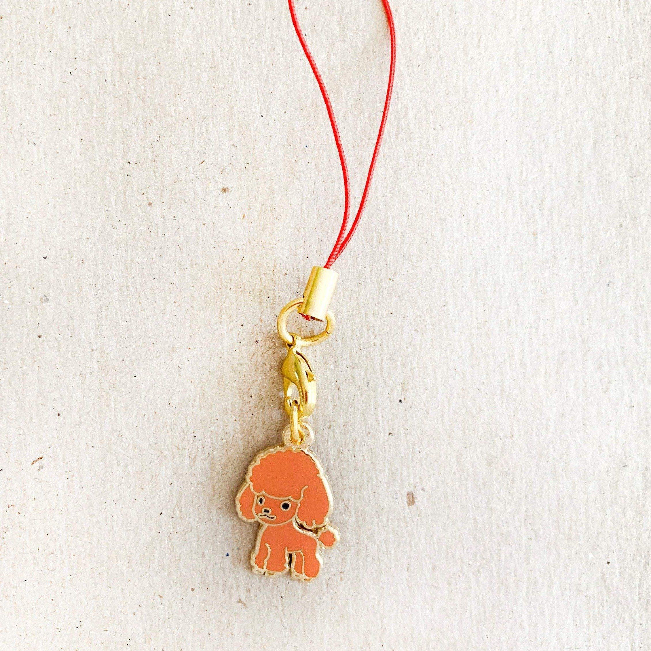 Enamel Charm - Standard Poodle Keychain (Red)