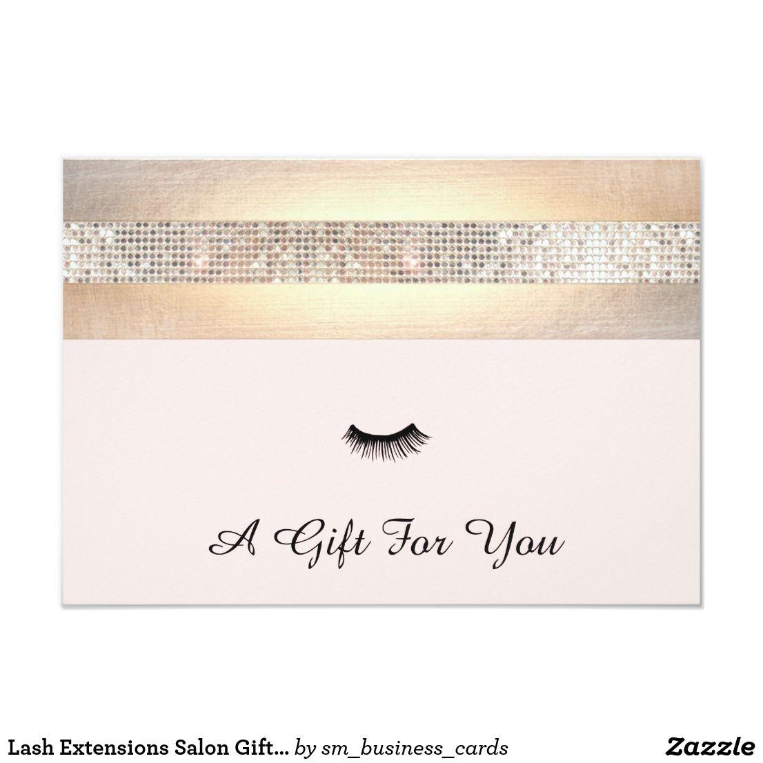 Lash Extensions Salon Gift Certificate Zazzle.ca