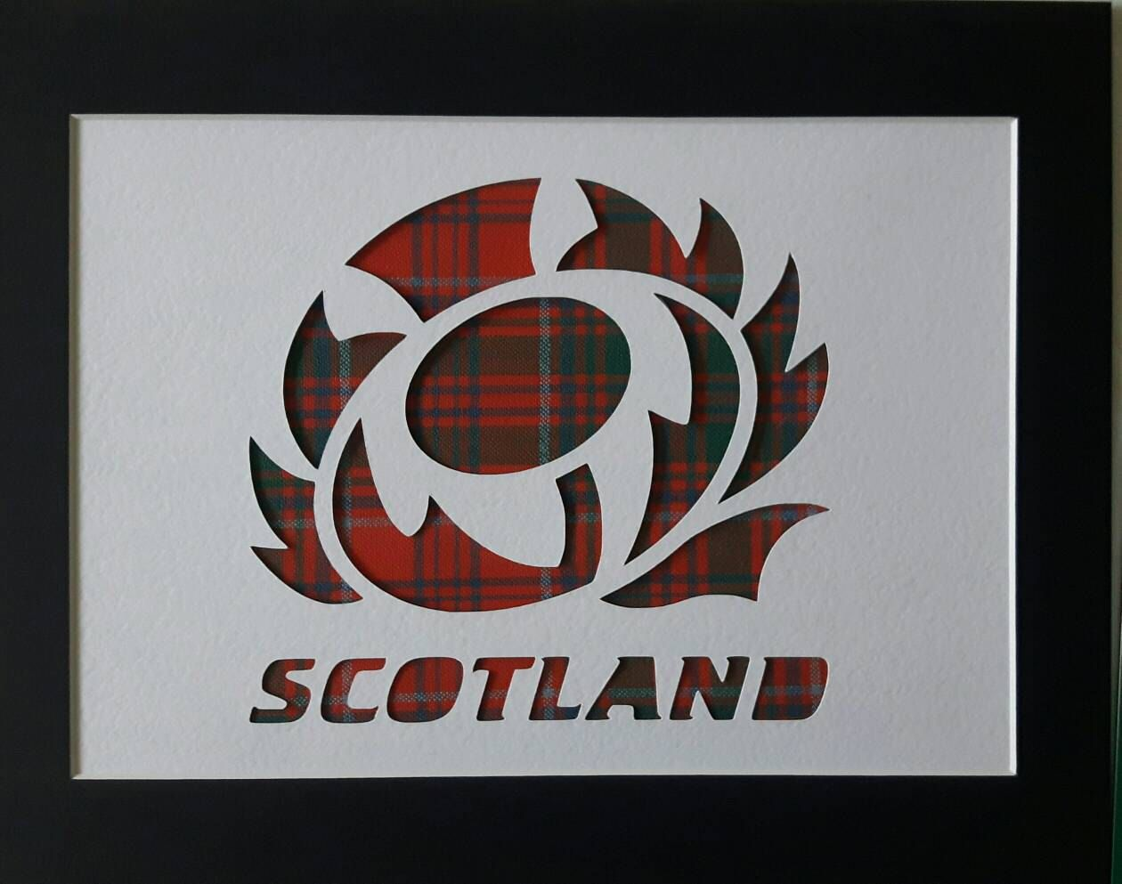 Rugby Logo Scotland Thistle Real Tartan Picture Scottish Gifts By Braveartgifts On Etsy Scottish Rugby Rugby Logo Scottish Rugby Union