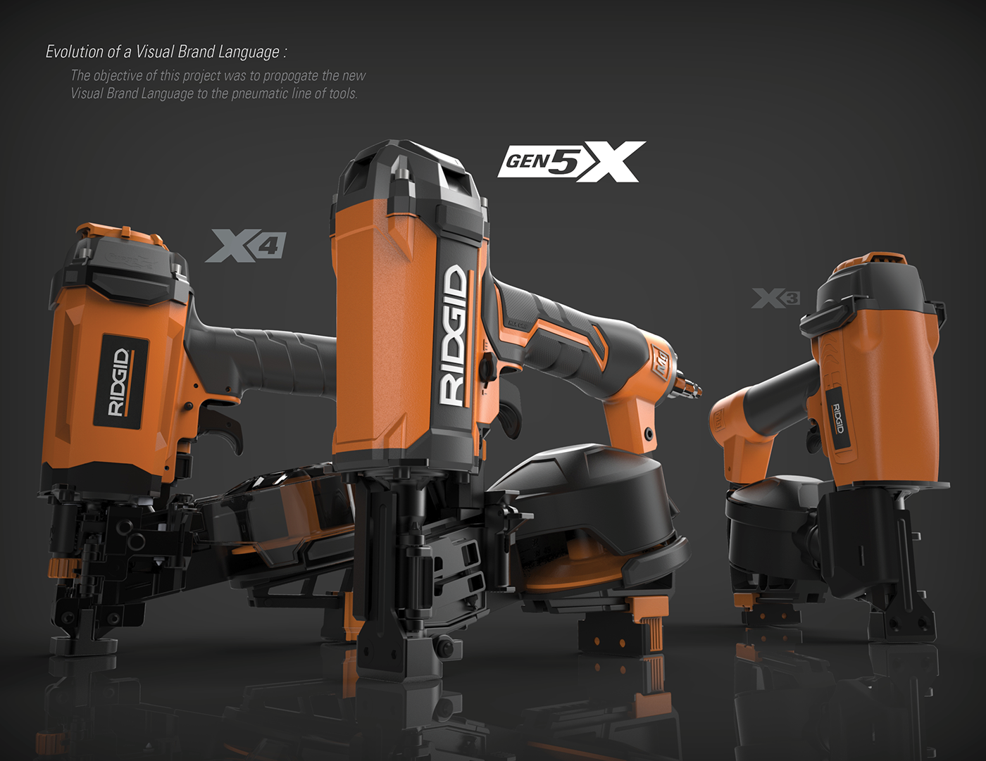 RIDGID Pneumatic Roofing Nailer on Behance Roofing