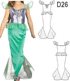 Disfraz De Sirena Con Patrones Para Coser En Casa Trato O Truco Disfraz De Sirena Sirena Disfraz Niña Traje De Sirena Para Niñas