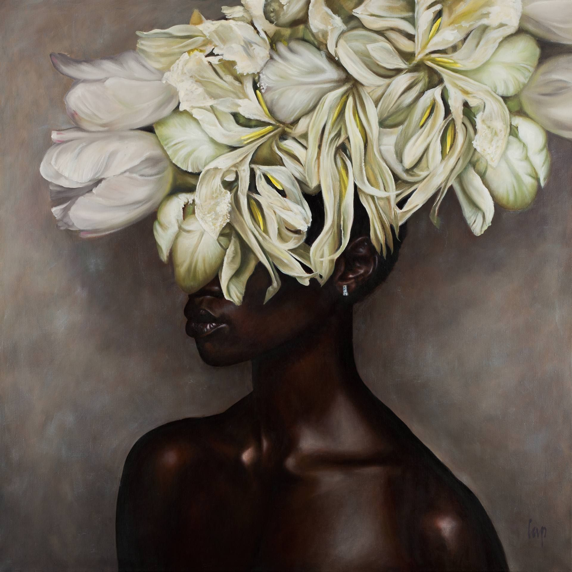 White Flowers On Black Woman Pinterest Buy Prints Black Women