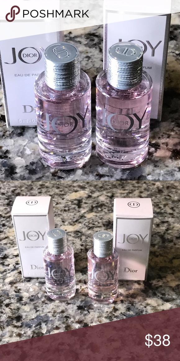 Dior Joy Eau De Parfum Two 5ml Travel Size New Dior Joy Eau De