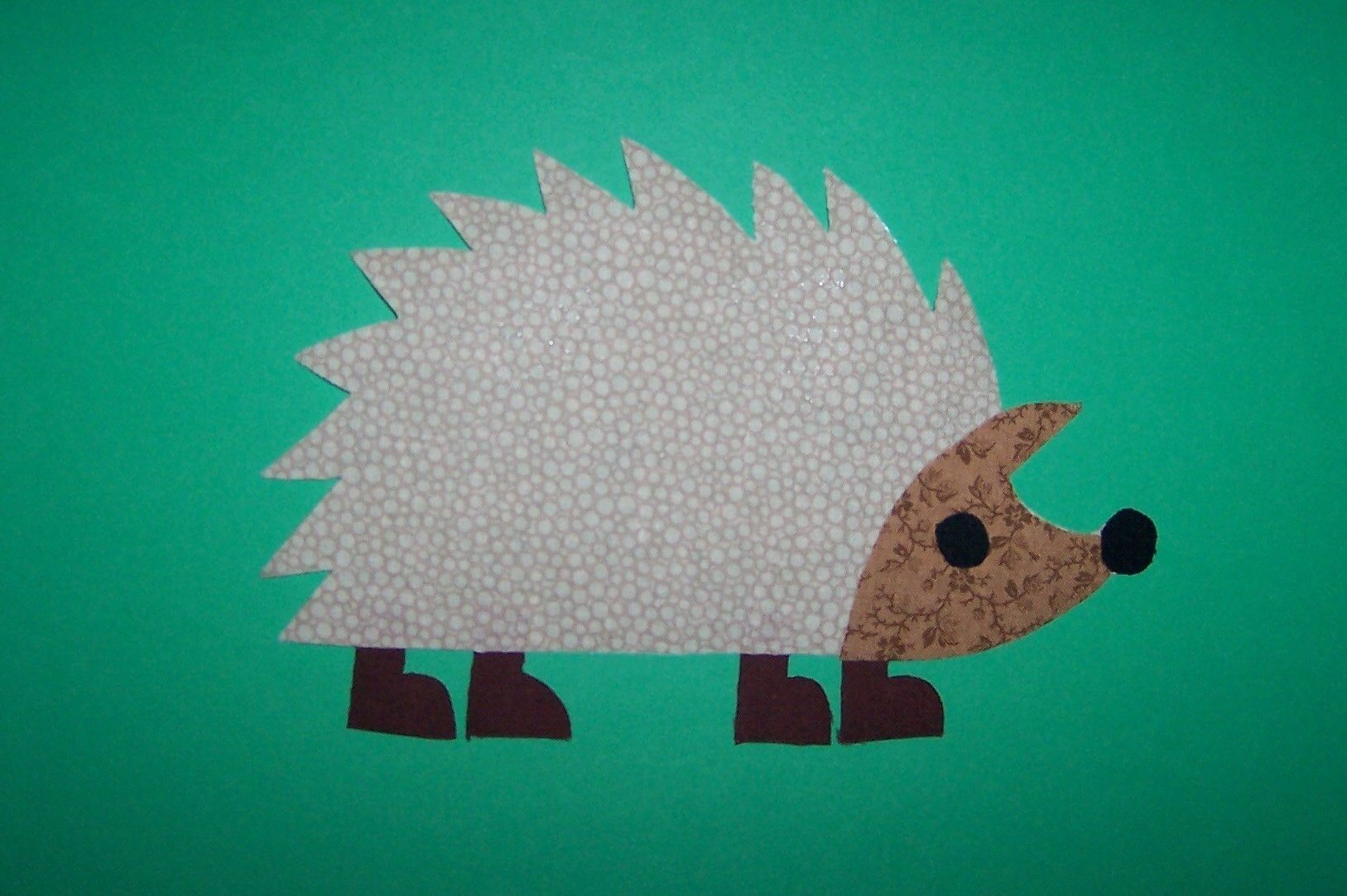 Fabric applique template only hedgehog animal quilts applique