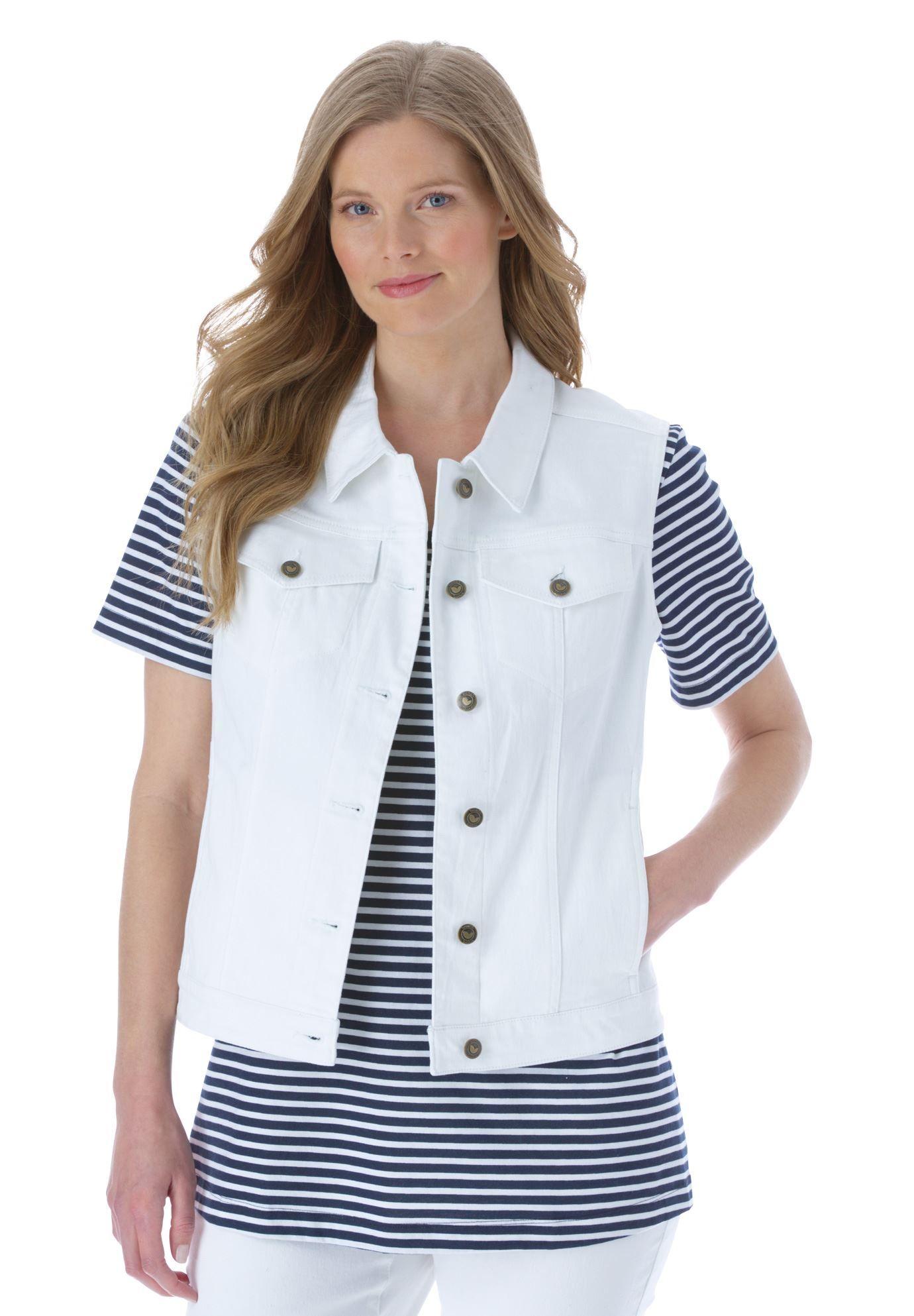 Stretch jean vest - Women s Plus Size Clothing  831456c5d