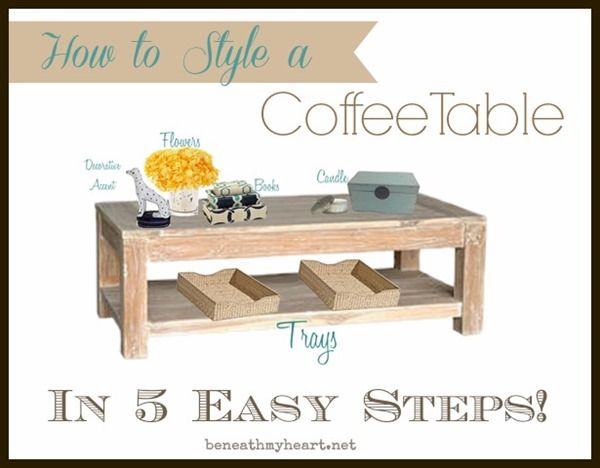 How To Style A Coffee Table In 5 Easy Steps