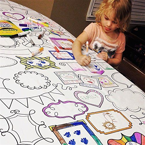 Download The Coloring Table Colorable Frame Fun Tablecloth - Recta... https://www.amazon.com/dp ...