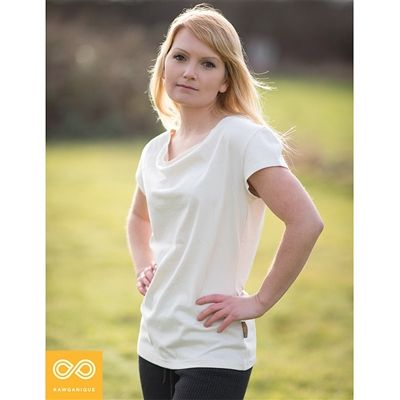 Women's 100% Organic Cotton Blouse Sweatshop-free can be worn for various occasions and is organic. It costs $35.