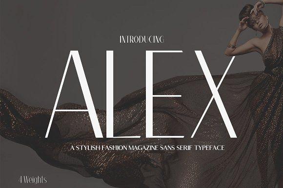 Alex Sans Serif Typeface by CreativeWhoa on @creativemarket