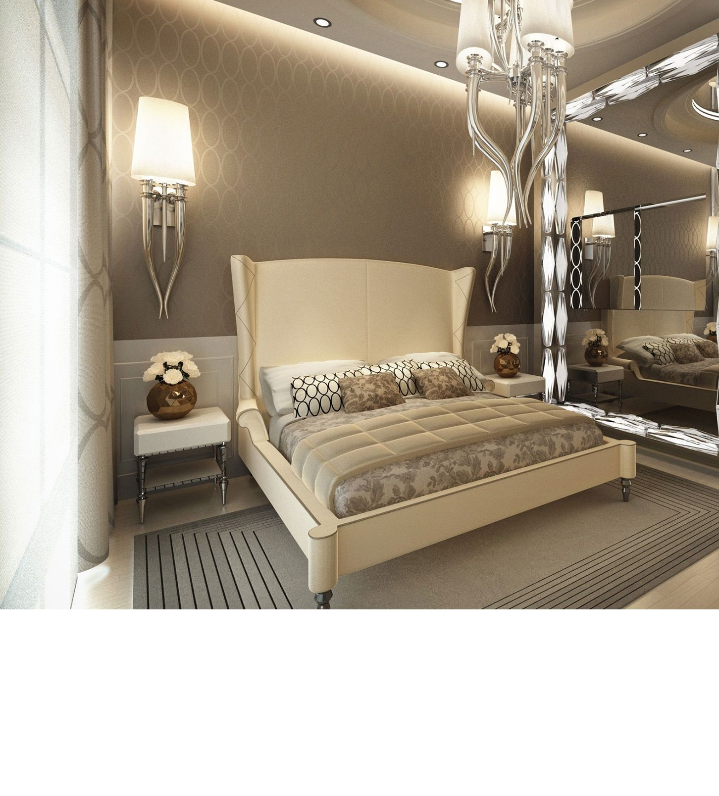 Luxury Bedroom Interior Design Inspiring Star Hotel Penthouse - Star bedroom furniture