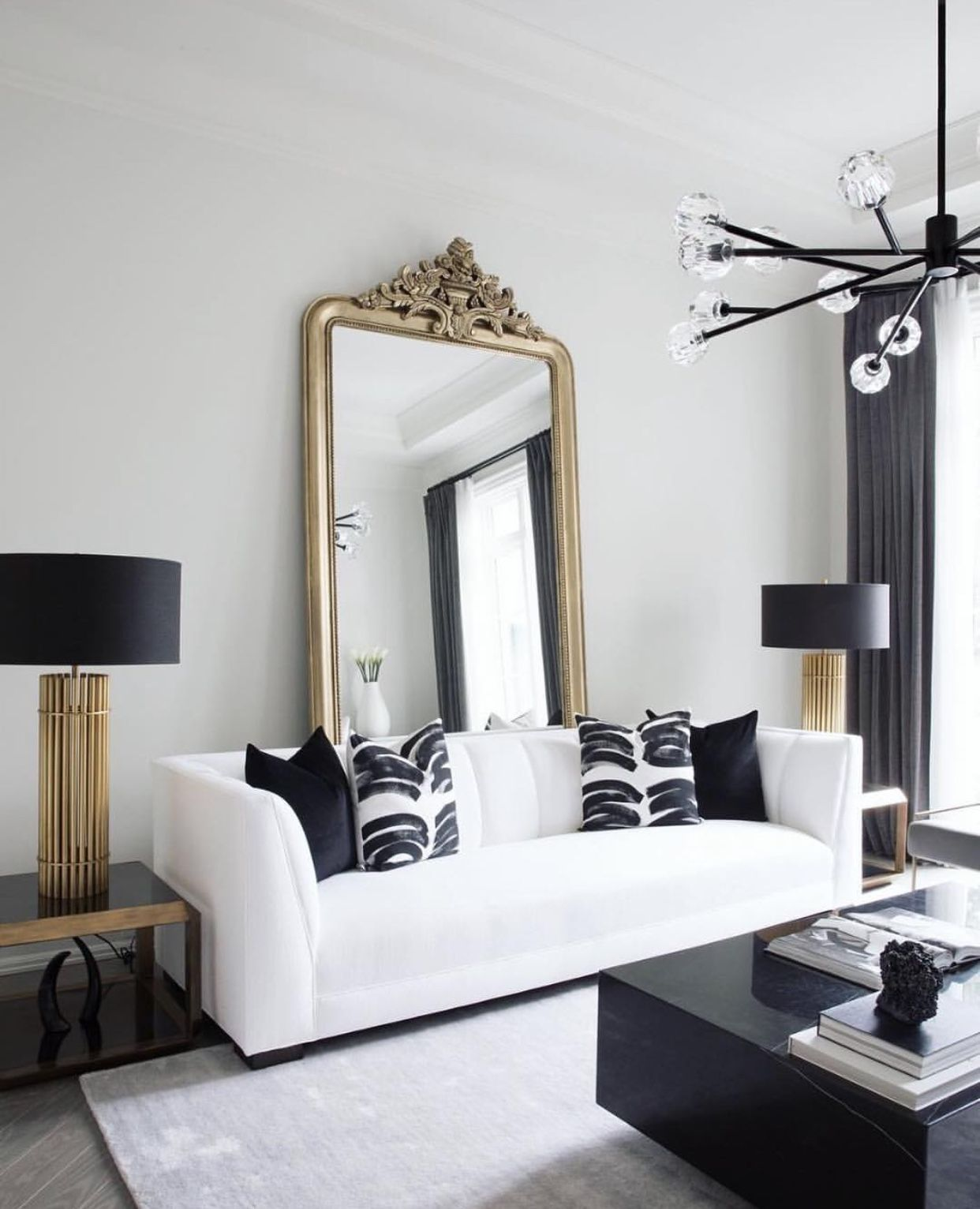 Black Bold Lines Stand Against Pristine White In This Horizontally