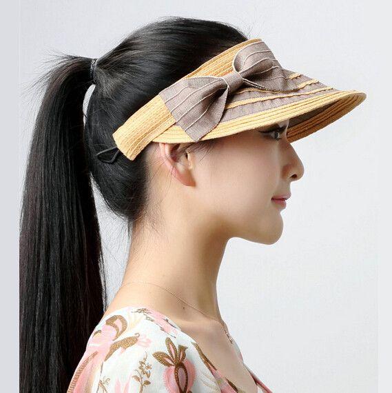 Summer straw visors hat for women best hats for sun protection cheap ... 4b5e41ee7