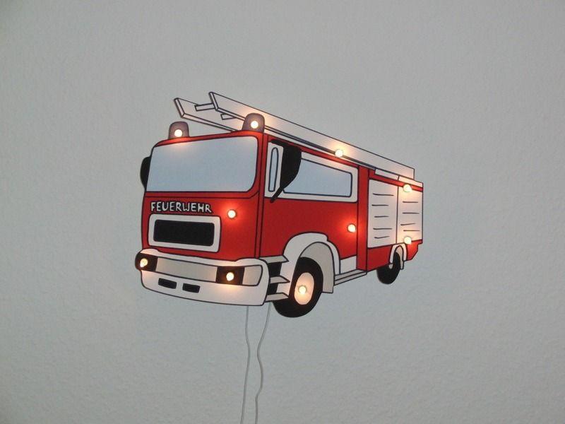 Feuerwehr Wandleuchte Kinderzimmer Schlummerlicht Kinder Zimmer Kinderzimmer Zimmer