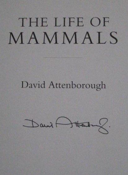 David Attenborough's Signature (author, documentary maker