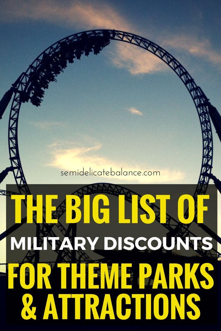 The Big List of Military Discounts for Theme Parks and Attractions, perfect for summer plans!