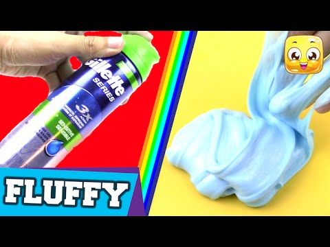 How To Make Fluffy Slime With Shaving Gel Diy Without Borax Or
