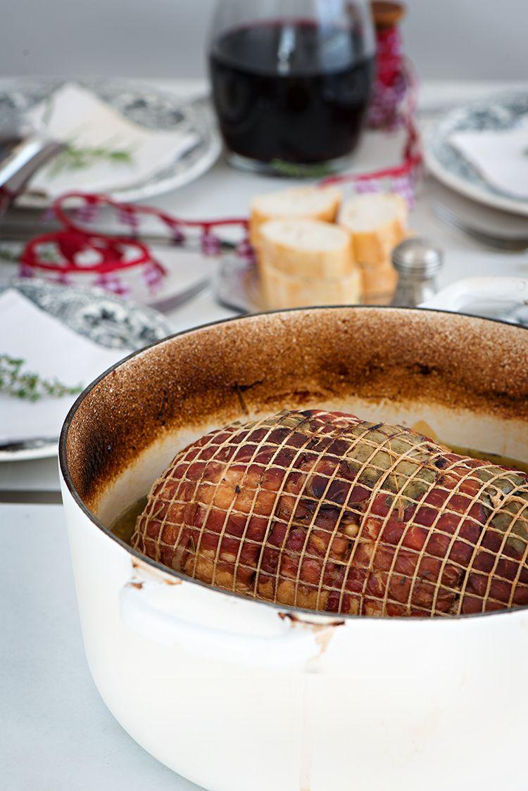 Redondo De Pollo Relleno Guisado En Cocotte Redondo De Pollo Pollo Relleno Pollo