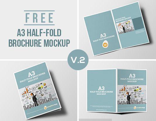 half fold brochure mockup free zanimljive ideje pinterest