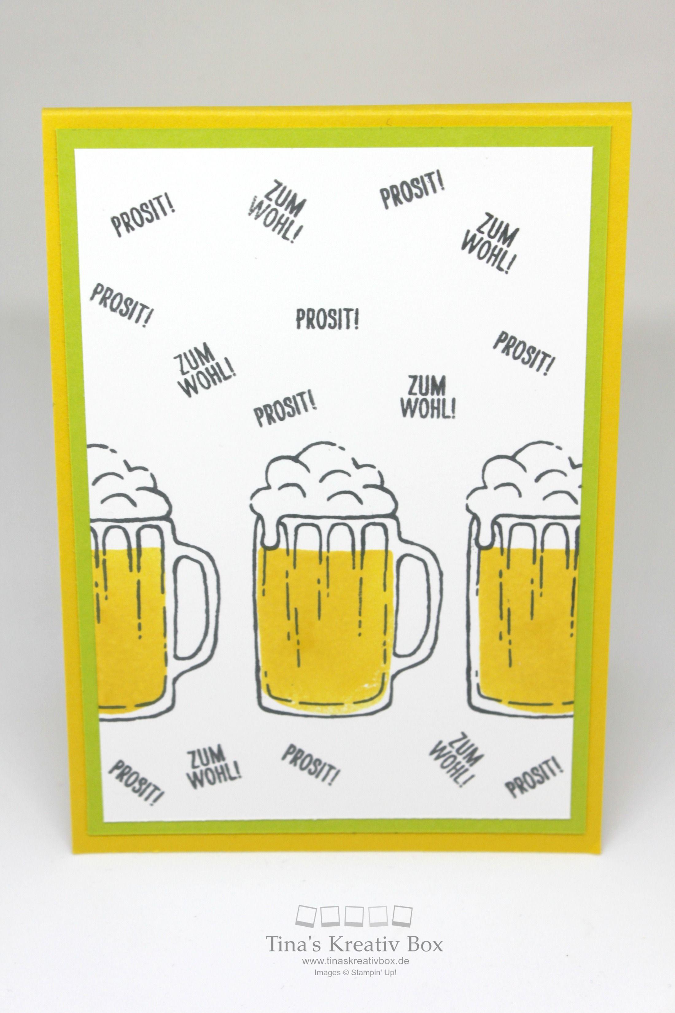Pop Up Karte Prosit - mit Produkten von Stampin' Up!