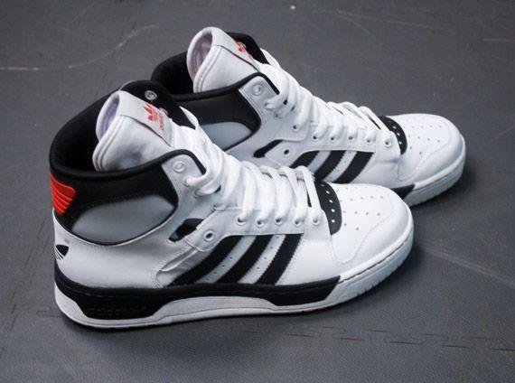 low priced 99960 cc2a8 adidas Originals Conductor Hi - White  Black  KicksOnFire.com