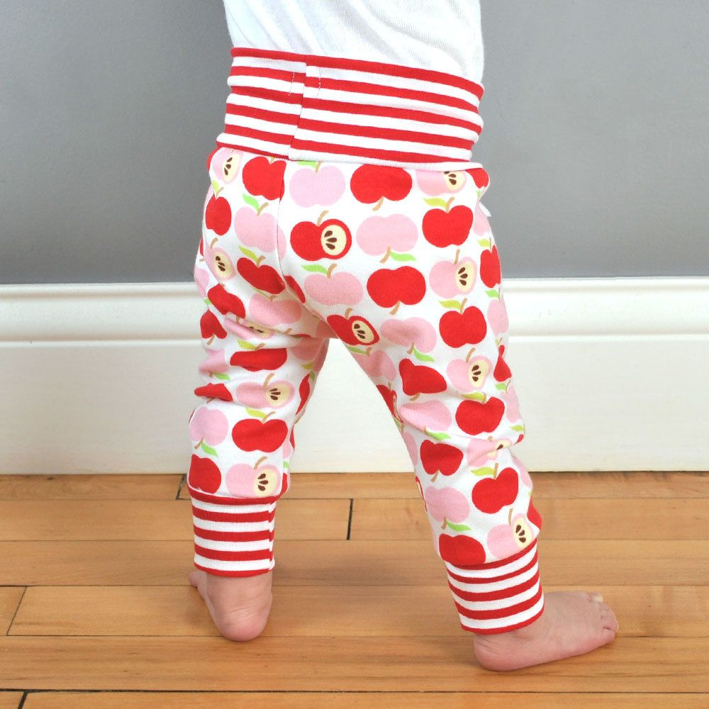 Baby and toddler leggings pdf pattern. Drawstring waist and ankle ...