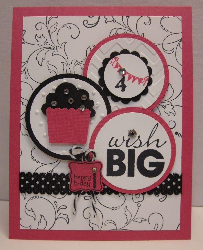 Pretty provisions wish big create a cupcake stampinu up cards