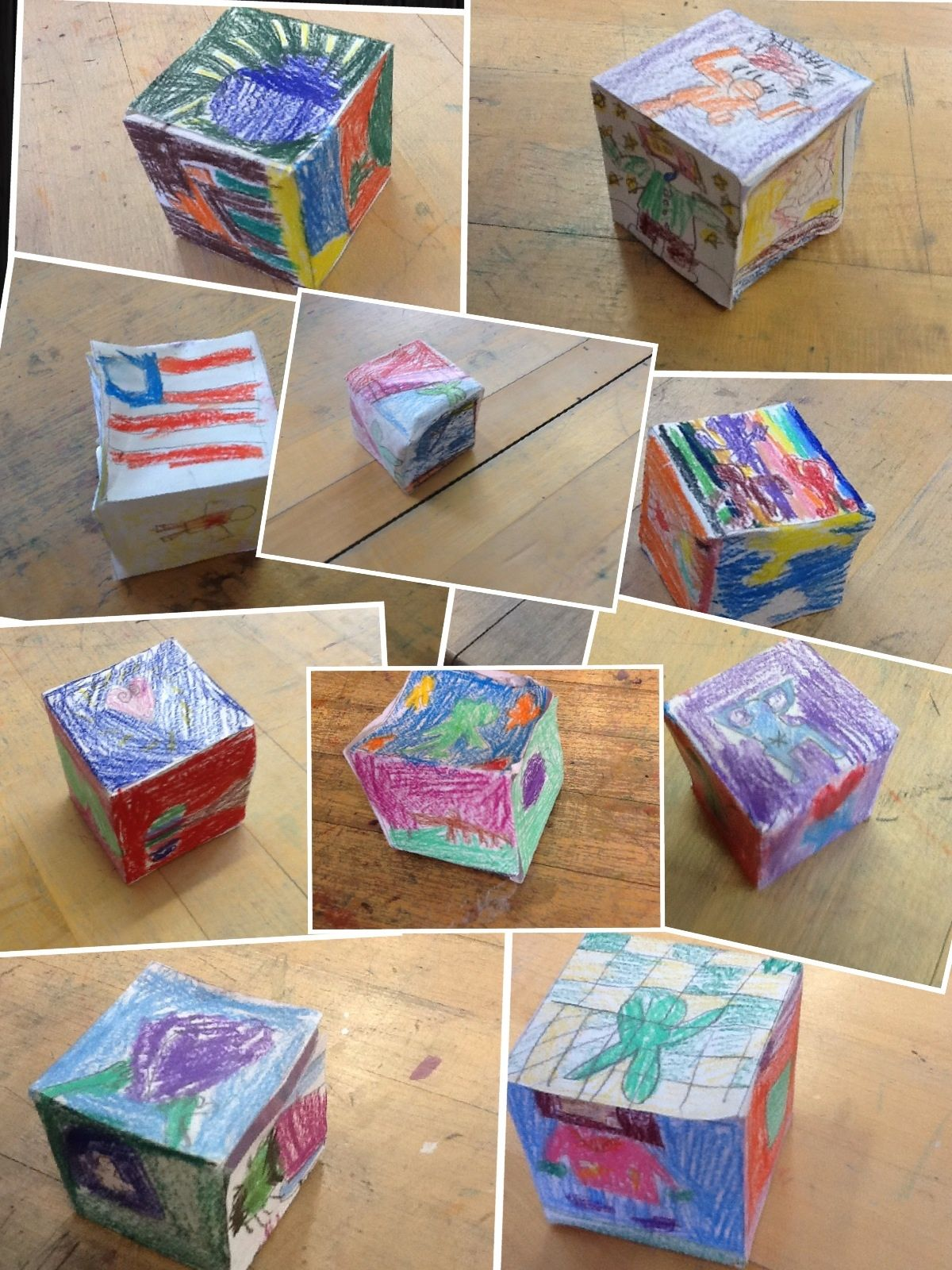 Art On My Hands Keith Haring Cubes