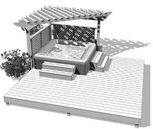 Like the partial pergola patio and yard pinterest for Gazebo pour piscine