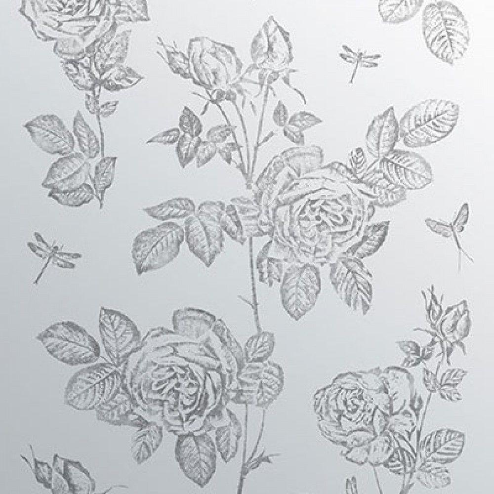 Ted Baker Wall Art Splashback Artile Vintage Rose 600mm X