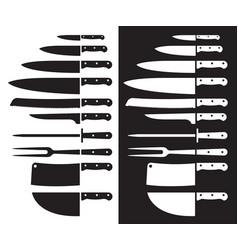 Butcher Knife Silhouette Sharp Vector Image On Vectorstock Vector Butcher Knife Vector Images