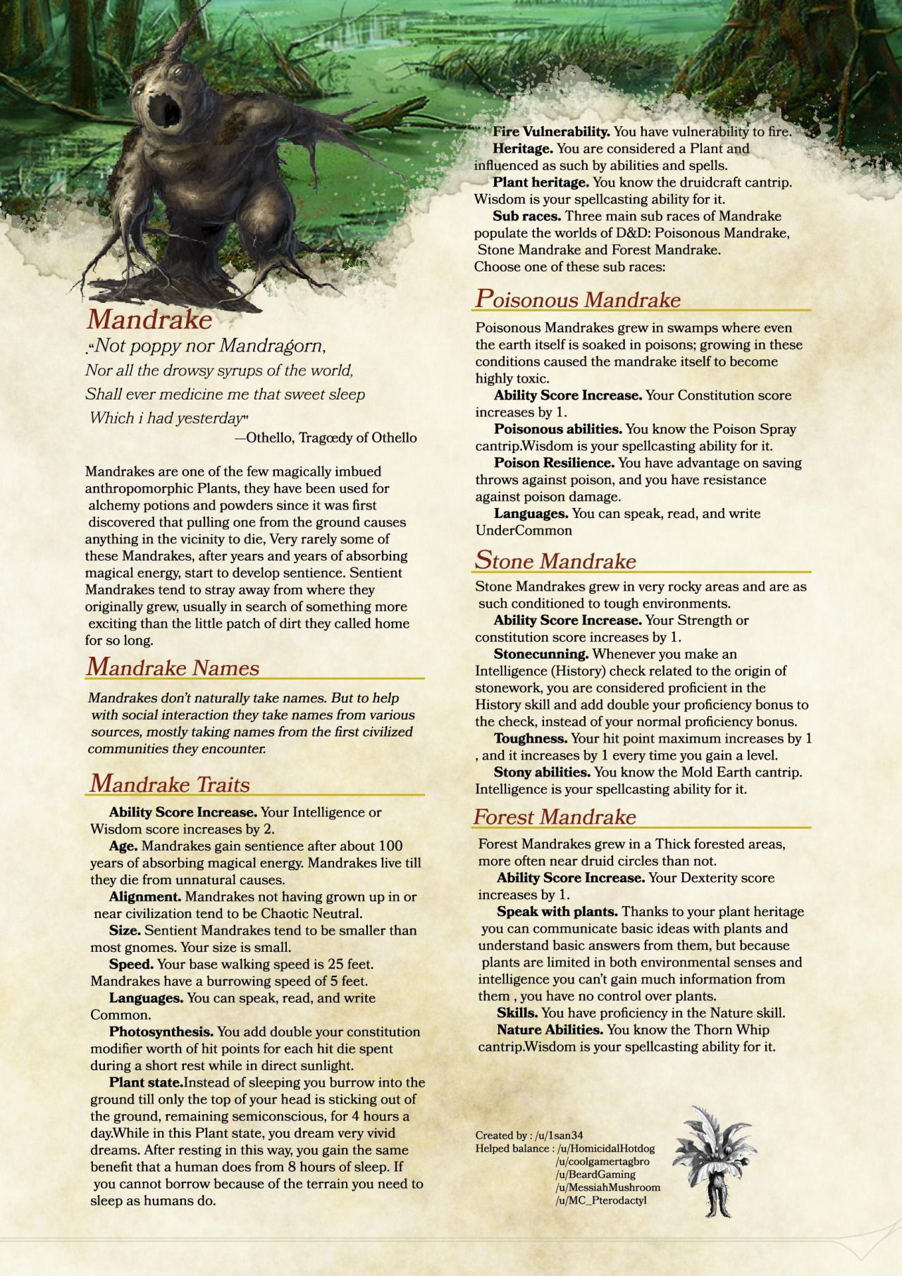Dnd 5e Homebrew Photo Dnd 5e Homebrew Dnd Races D D Dungeons And Dragons