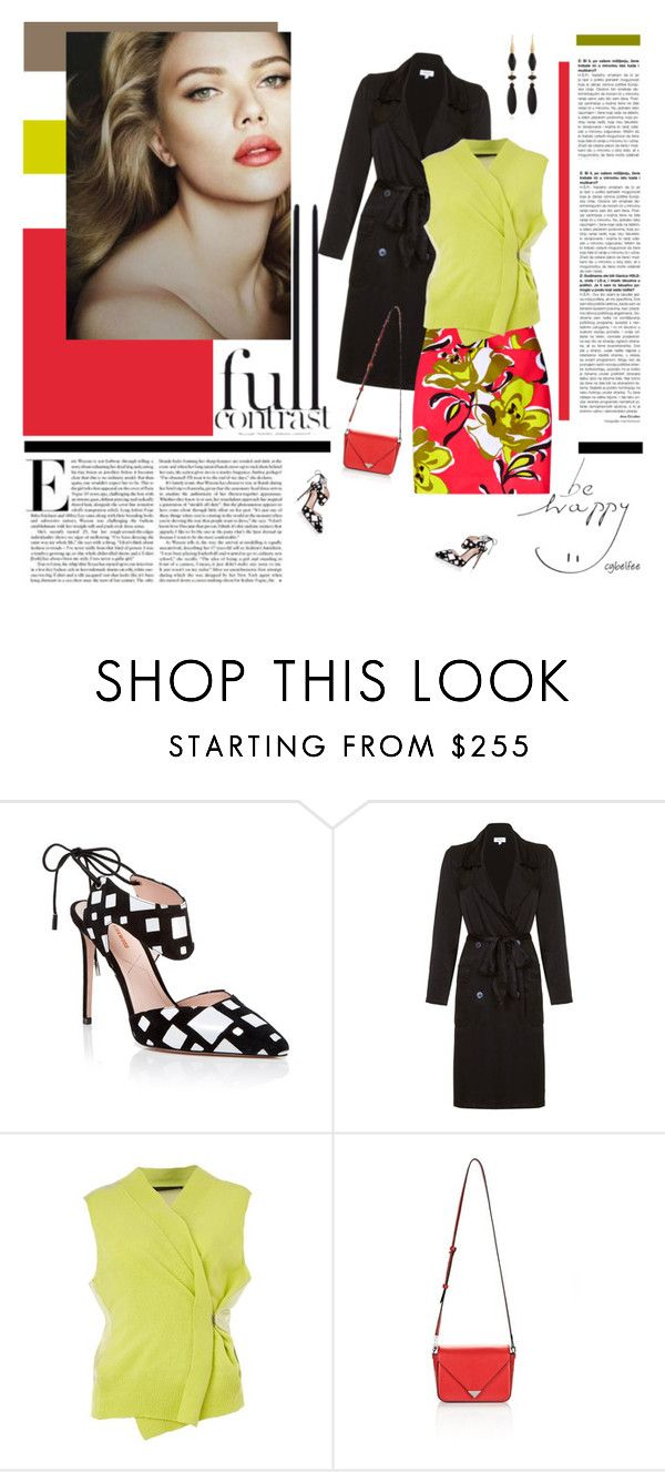 """""""Full contrast"""" by cybelfee ❤ liked on Polyvore featuring Nicholas Kirkwood, Ghost, Etcetera, Haider Ackermann, Alexander Wang and Isabel Marant"""