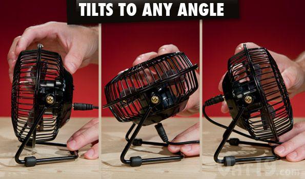 The Usb Retro Metal Desk Fan Can Tilt 360 Degrees